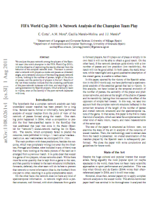 FIFA World Cup 2010: A Network Analysis of the Champion Team Play